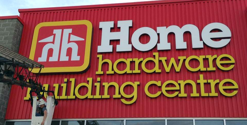 Home hardware building centre signage