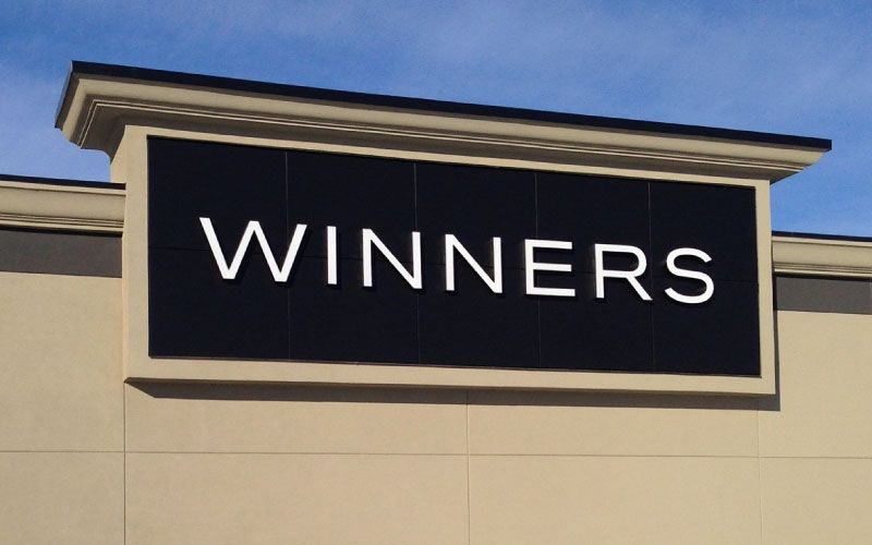 Installed Winners signage