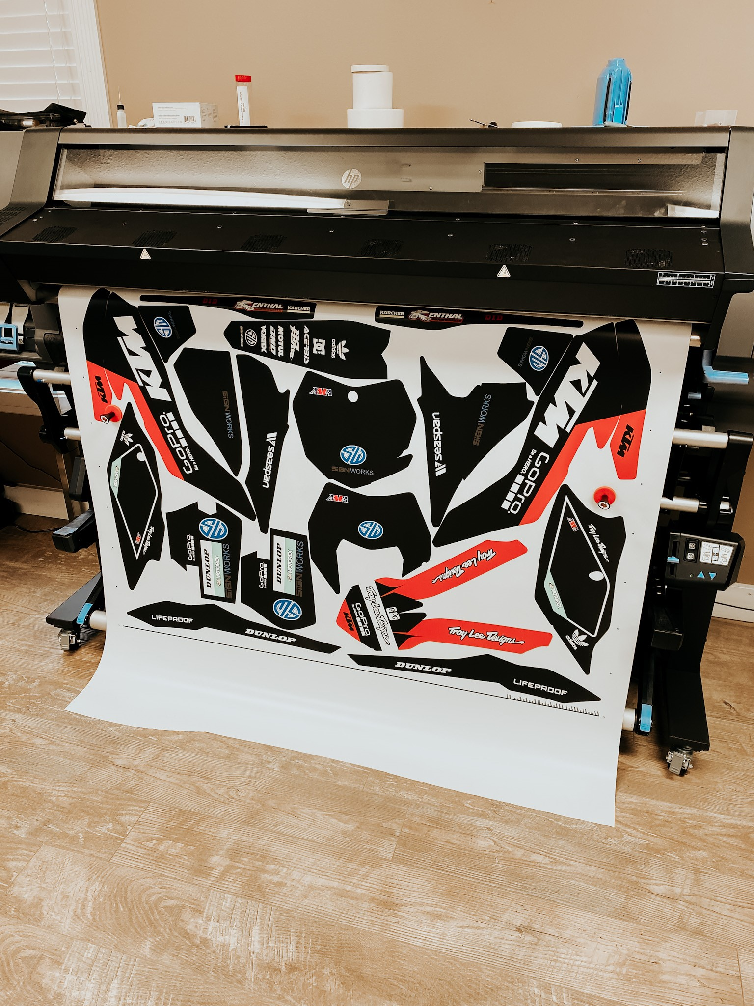 graphics being printed