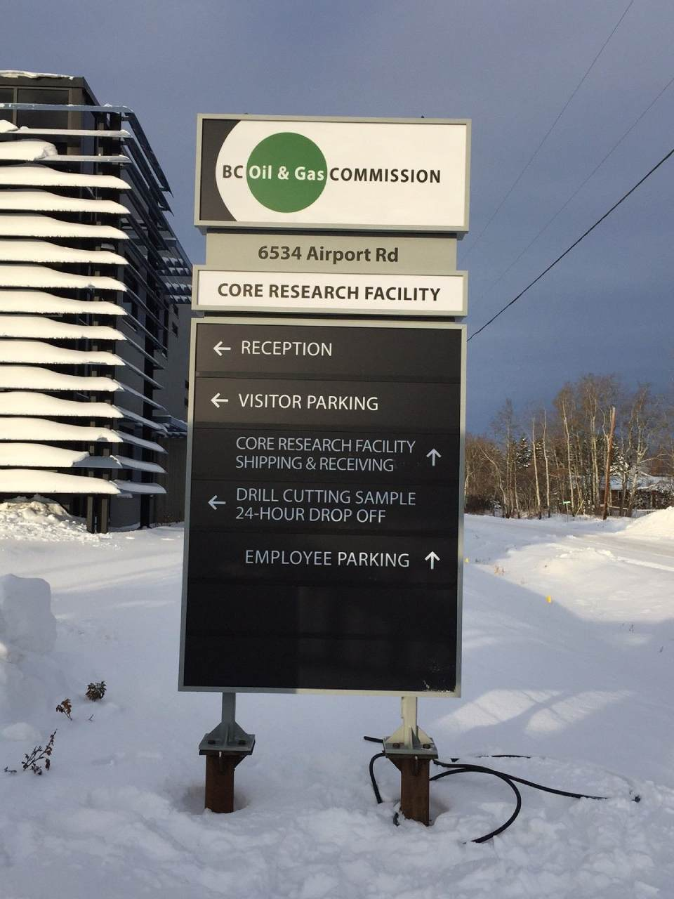 BC Oil & gas commission signage